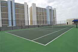 Majestic Beach Tower Condos Tennis Courts
